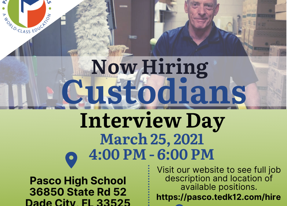 Custodians Interview Day